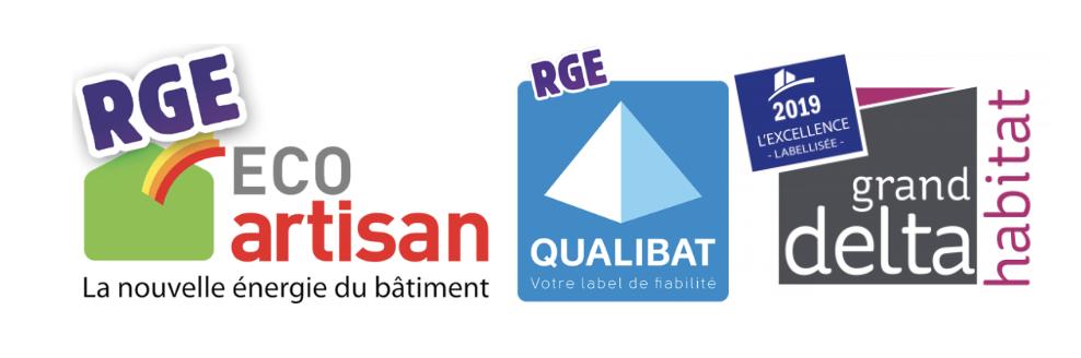 logos RGE et Qualibat